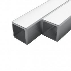 Sonata 2 бр кухи квадратни пръти неръждаема стомана V2A 2м 15x15x1,5мм - Панели и Детайли