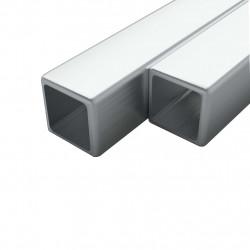 Sonata 2 бр кухи квадратни пръти неръждаема стомана V2A 1м 20x20x1,9мм - Панели и Детайли