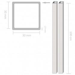 Sonata 2 бр кухи квадратни пръти неръждаема стомана V2A 1м 30x30x1,9мм - Панели и Детайли