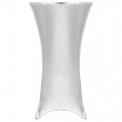 Sonata 2 бр стреч покривки за маса, 80 см, сребристи - Калъфи за мебели