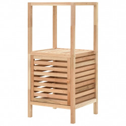 Sonata Шкаф за съхранение за баня, орех масив, 39,5x35,5x86 см - Шкафове за Баня