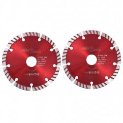 Sonata Диамантени режещи дискове, 2 бр, турбо, стомана, 125 мм - Sonata H