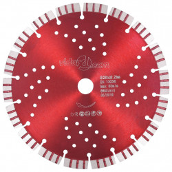Sonata Диамантен режещ диск с турбо и отвори, стомана, 230 мм - Инструменти