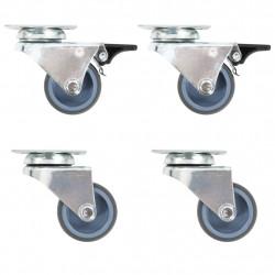 Sonata Двойни въртящи се колела, 4 бр, 50 мм - Индустриално оборудване
