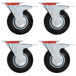 Sonata 4 бр въртящи се колела с двойни спирачки, 125 мм - Индустриално оборудване