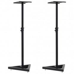 Sonata Студийни стойки за мониторни тонколони, 2 бр, черни, стомана - Стойки за TV и Плеъри