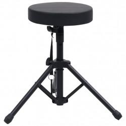 Sonata Регулируема табуретка за барабан, черна, кръгла - Музикални Инструменти