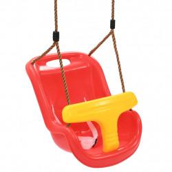 Sonata Бебешка люлка с предпазен колан, PP, червена - Люлки и Хамаци