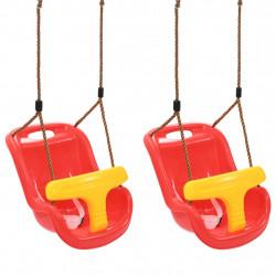 Sonata Бебешки люлки, 2 бр, с предпазен колан, PP, червени - Люлки и Хамаци