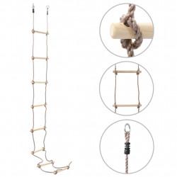 Sonata Детска въжена стълба, 290 см, дърво - Детски играчки