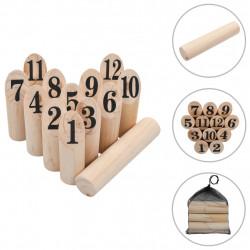 Sonata Комплект на играта Kubb, дърво - Детски играчки