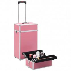 Sonata Куфар за грим на колелца, алуминий, розов - Куфари и Чанти