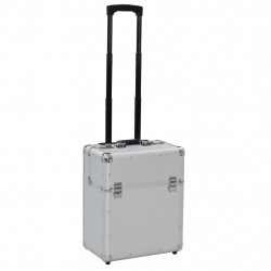 Sonata Пилотски куфар, 39x47x25 см, сребърен, алуминий - Куфари и Чанти