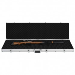 Sonata Куфар за пушки, сребрист, 134x35x12 см, алуминий - Куфари и Чанти