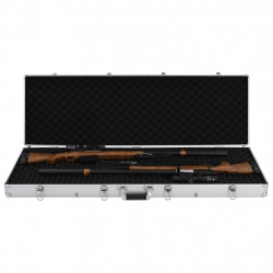 Sonata Куфар за пушки, сребрист, 118x38x12 см, алуминий - Куфари и Чанти