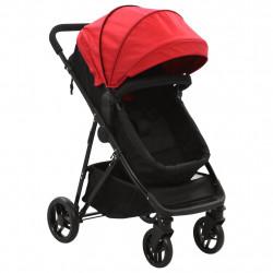 Sonata Детска/бебешка количка 2-в-1, червено и черно, стомана - Детски превозни средства