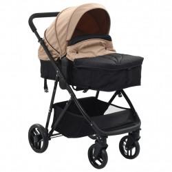 Sonata Детска/бебешка количка 2-в-1, таупе и черно, стомана - Детски превозни средства