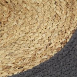 Sonata Подложки за хранене 4 бр натурално и антрацит 38 см юта и памук - Кухненски аксесоари и прибори