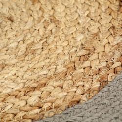 Sonata Подложки за хранене 4 бр натурално и сиво 38 см юта и памук - Кухненски аксесоари и прибори