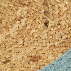 Sonata Подложки за хранене 4 бр натурално и зелено 38 см юта и памук - Кухненски аксесоари и прибори