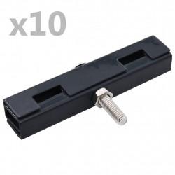 Sonata U-образни конектори за градински пана, 10 комплекта, антрацит - Огради