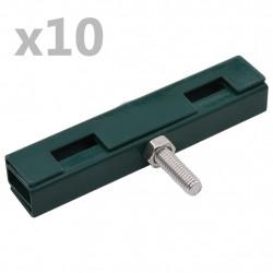 Sonata U-образни конектори за градински пана, 10 комплекта, зелени - Огради