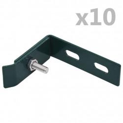 Sonata Ъглови крепежни планки, 10 комплекта, зелени - Огради