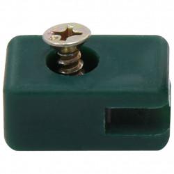 Sonata Държачи за оградна мрежа, с винт, 100 комплекта, зелен - Огради