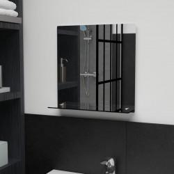 Sonata Стенно огледало с рафт, 40x40 см, закалено стъкло - Тоалетки
