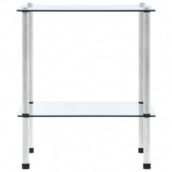 Sonata 2-етажен рафт, прозрачен, 40x40x47 см, закалено стъкло - Етажерки