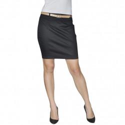 Къса пола с колан, черна, размер 34 - Работно Облекло
