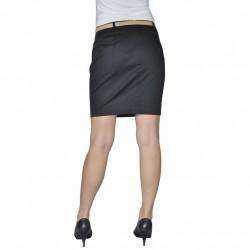 Къса пола с колан, черна, размер 34 - Спорт и Свободно време