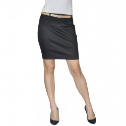 Къса пола с колан, черна, размер 36 - Работно Облекло