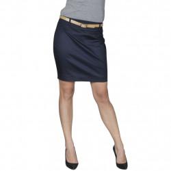 Къса пола с колан, тъмносиня, размер 34 - Работно Облекло