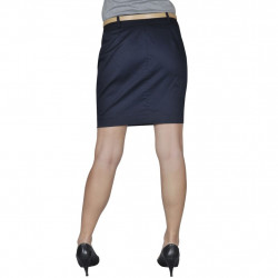 Къса пола с колан, тъмносиня, размер 36 - Работно Облекло