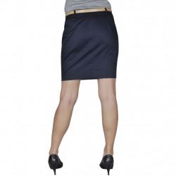 Къса пола с колан, тъмносиня, размер 38 - Работно Облекло