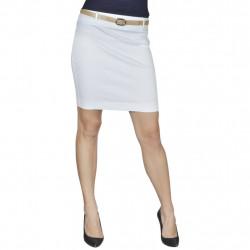 Къса пола с колан, бяла, размер 34 - Работно Облекло