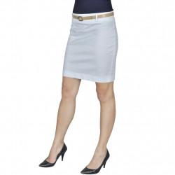 Къса пола с колан, бяла, размер 34 - Спорт и Свободно време