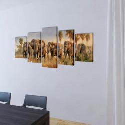 Декоративни панели за стена Слонове, 100 x 50 см - Картини, Плакати, Пъзели
