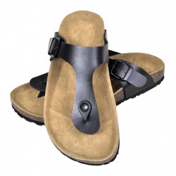 Черни чехли, унисекс, био корк, размер 36 - Работно Облекло