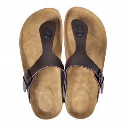 Кафяви чехли, унисекс, био корк, размер 41 - Работно Облекло