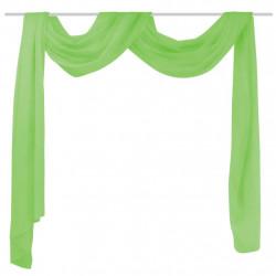 Драперия от прозрачен воал, 140x600 см, зелена - Завеси, Пердета и Кoрнизи