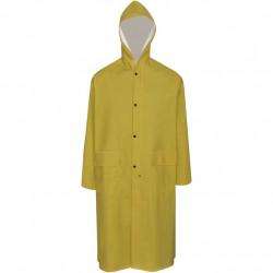 Водоустойчив дълъг дъждобран с качулка, жълт, XXL - Аксесоари за пътуване