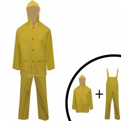 Водоустойчив дъждобран от две части с качулка, жълт, M - Аксесоари за пътуване