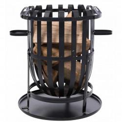 RedFire Преносимо огнище тип кош Dallas, черно, стомана - Камини, Комини и Печки на дърва