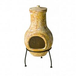 RedFire Огнище Tampico, жълто, 31x31x68 см, глина - Камини, Комини и Печки на дърва