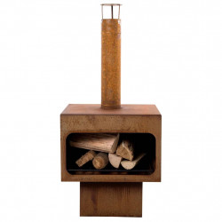 RedFire Камина Jersey XL, стомана, ръждивокафява, 81077 - Камини, Комини и Печки на дърва