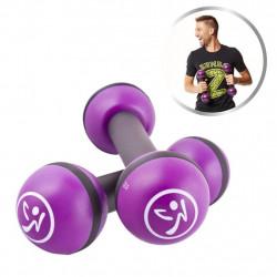 Zumba Леки тежести, 2 бр, 1 кг, лилави, ZUM011 - Обзавеждане на Бизнес обекти