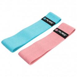 Pure2Improve Комплект фитнес ленти, синьо и розово - Спортове на открито