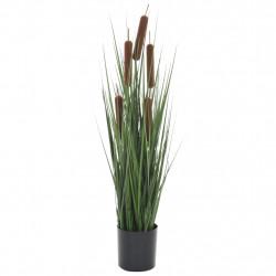 Sonata Изкуствено растение декоративна трева с папур, 60 см - Изкуствени цветя